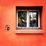 hands up for orange walls