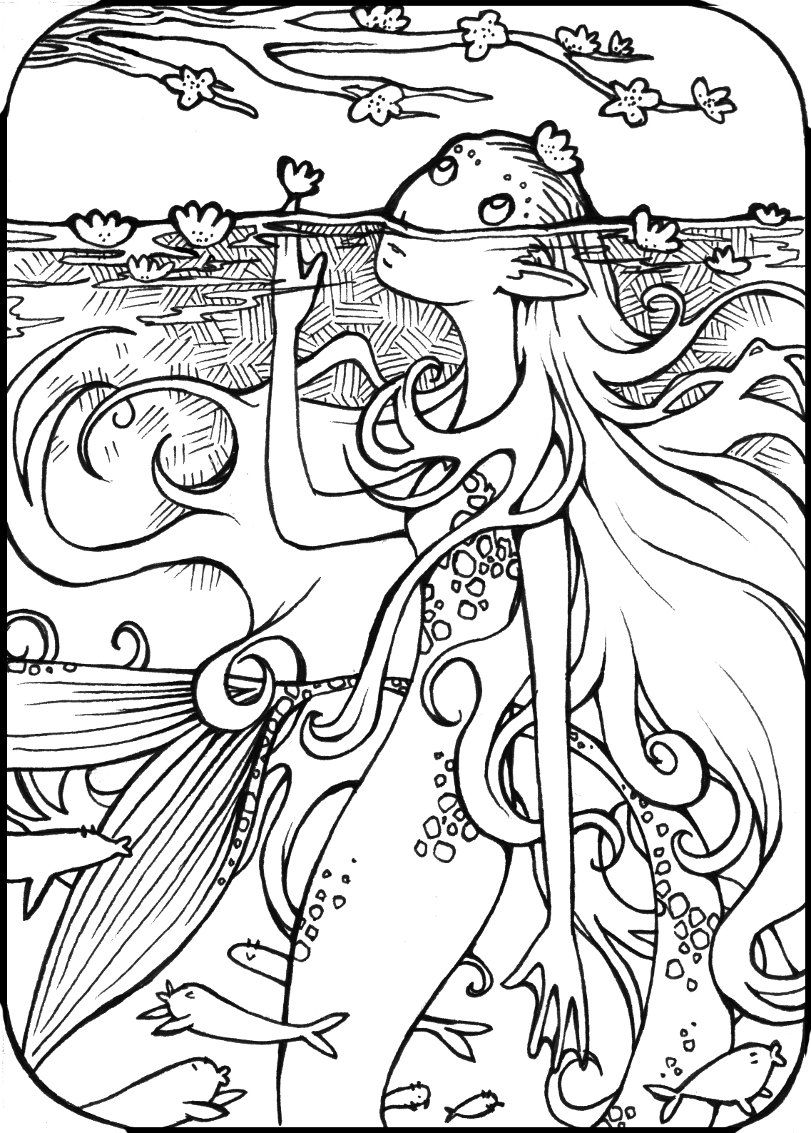 1000+ images about Fantastical Coloring pages on Pinterest