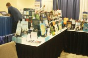 Conference stand displaying Edward Elgar Publishing textbooks