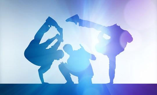 Blue Silhouette Dancer