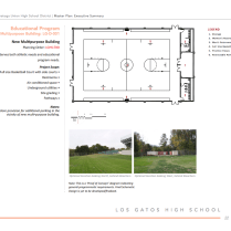 Another multipurpose building is planned, and will feature a basketball court and athletic facilities.