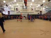The new Spirit rally game of Cornhole was a huge success.