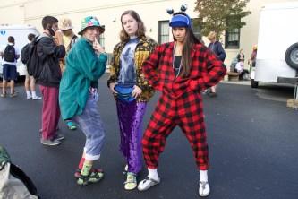 Students wear their wackiest attire to school.