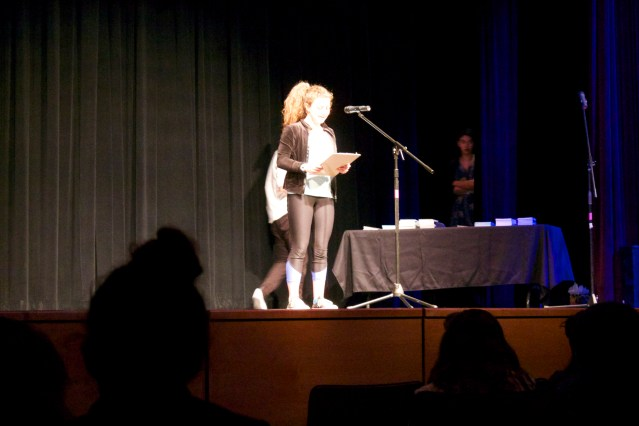 Freshman Hope Beckman performing