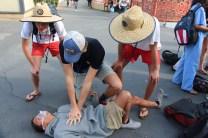 Future lifeguards save possible victim.