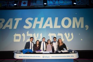 The Shabbat and Rituals Administrative Assistants lead prayers.