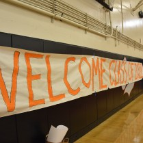 The Class of '21 gets a big welcome with a big poster