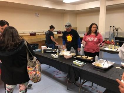 LGHS teachers help serves tacos to help raise money