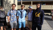 Juniors show off their east coast and west coast attire.