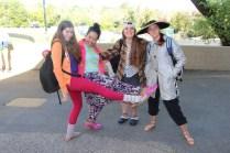 Senior girls proudly show off their fashion faux pas.