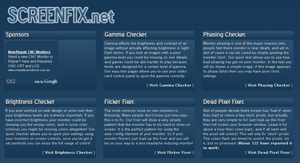 screenfix 1024x558 ScreenFix, para ajustar tu monitor online y corregir píxels muertos