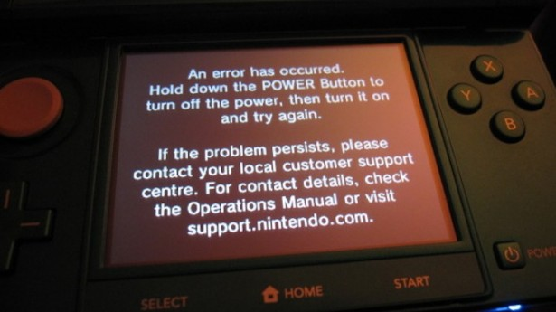 "20110328 3ds 615x345 Denuncian ""pantallazos de la muerte"" en la Nintendo 3DS"