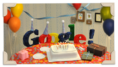 Googles 13th Birthday 2011 hp Google celebra su 13° aniversario