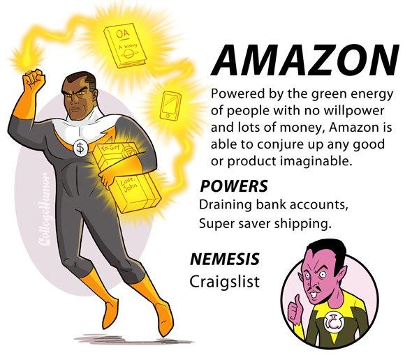 amazon Las grandes potencias de internet como superhéroes