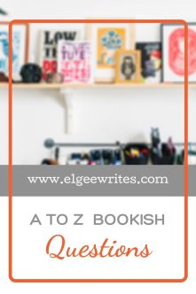 A-z Bookish questions Tag Pinterest