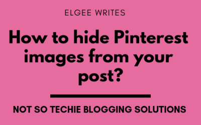 How to hide Pinterest images from your post? (Blogging solutions)