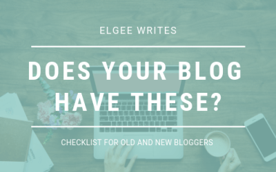 Does your blog have these? A  checklist for new bloggers