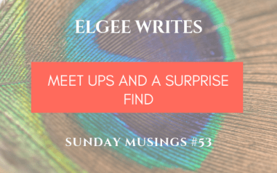 Sunday Musings #53: Meet Ups And A Surprise Find