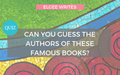 Quiz: Can you guess the authors of these famous books?