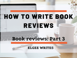 How to write book reviews - featured