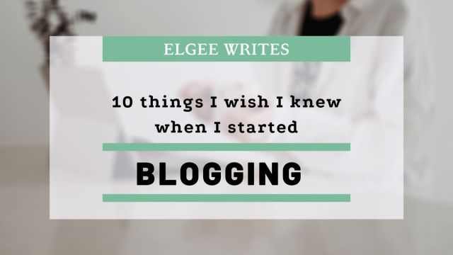 things I wish I knew when I started blogging Cover