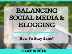 Balancing Social media and Blogging Cover