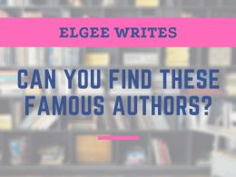 Find these famous authors Cover