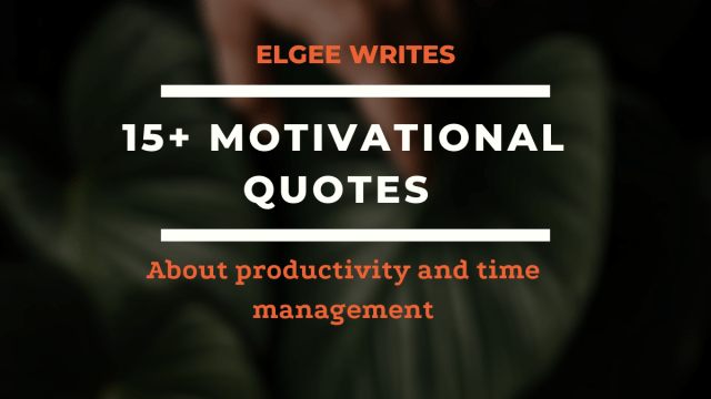 Motivational quotes about productivity and time management Cover