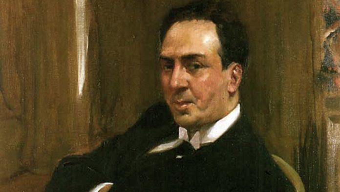 Antonio Machado retratado por Joaquín Sorolla   Fuente: Hispanic Society of America