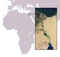 Mapa físico Canal de Suez