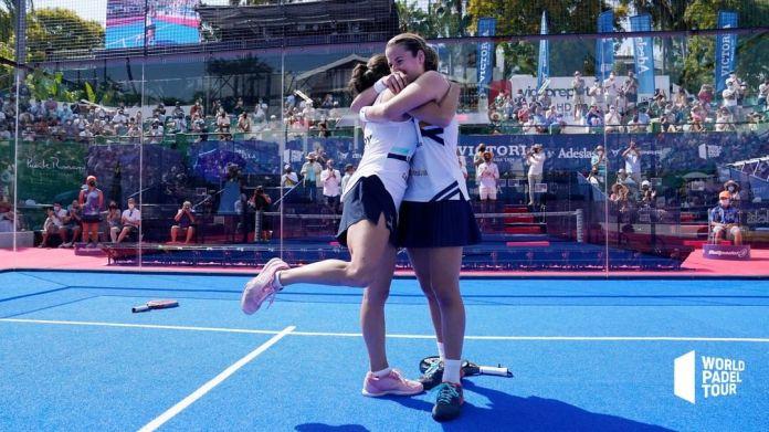 Ari Sánchez y Paula Josemaría campeonas de Cerveza Victoria Marbella Master WPT. Fuente: Instagram @worldpadeltour