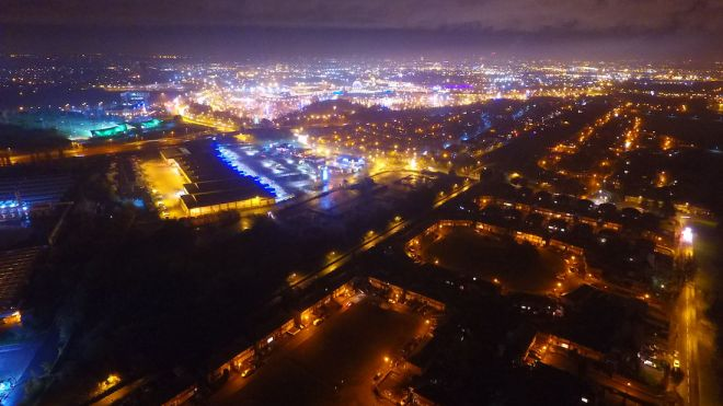 View overTrafford Park at Night