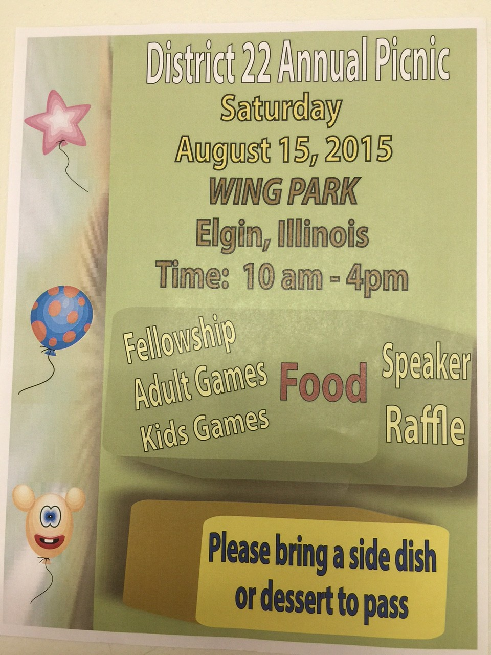 District 22 Annual Summer Picnic 1