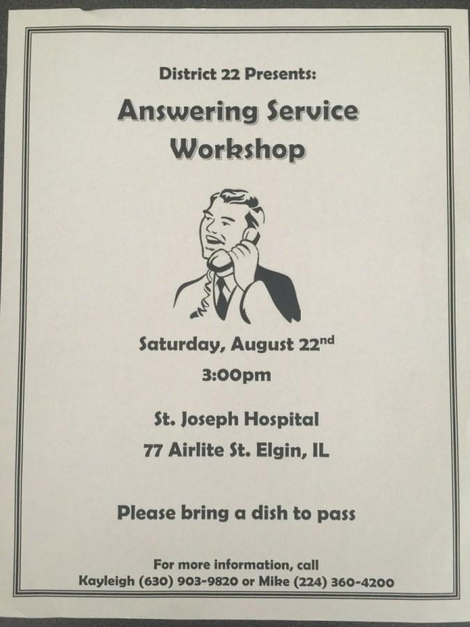 Answering Service Workshop 1