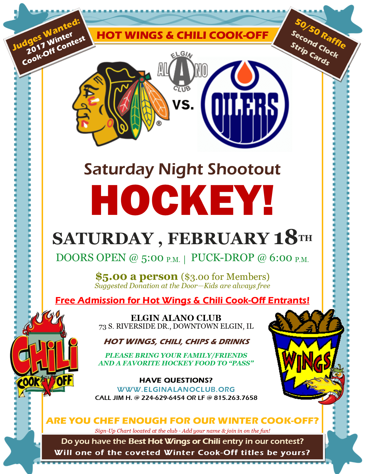 Winter Cook-Off and Saturday Night Shootout Hockey 1