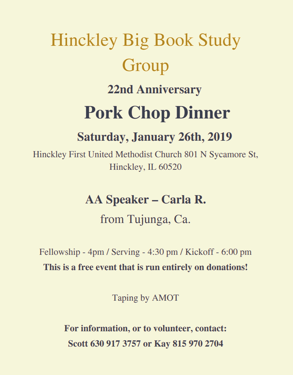 2019 Hinckley Pork Chop Dinner 1