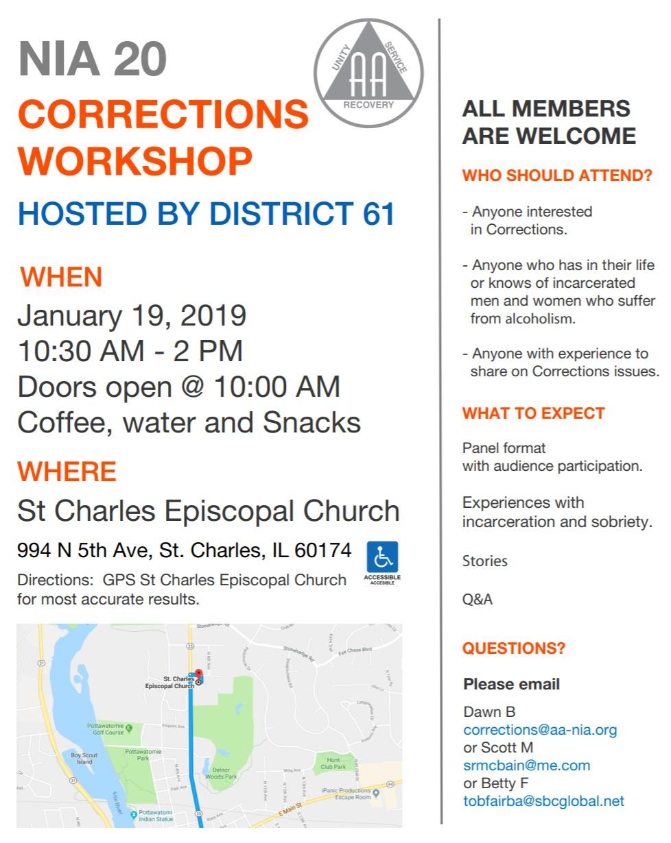 NIA 20 Corrections Workshop 1