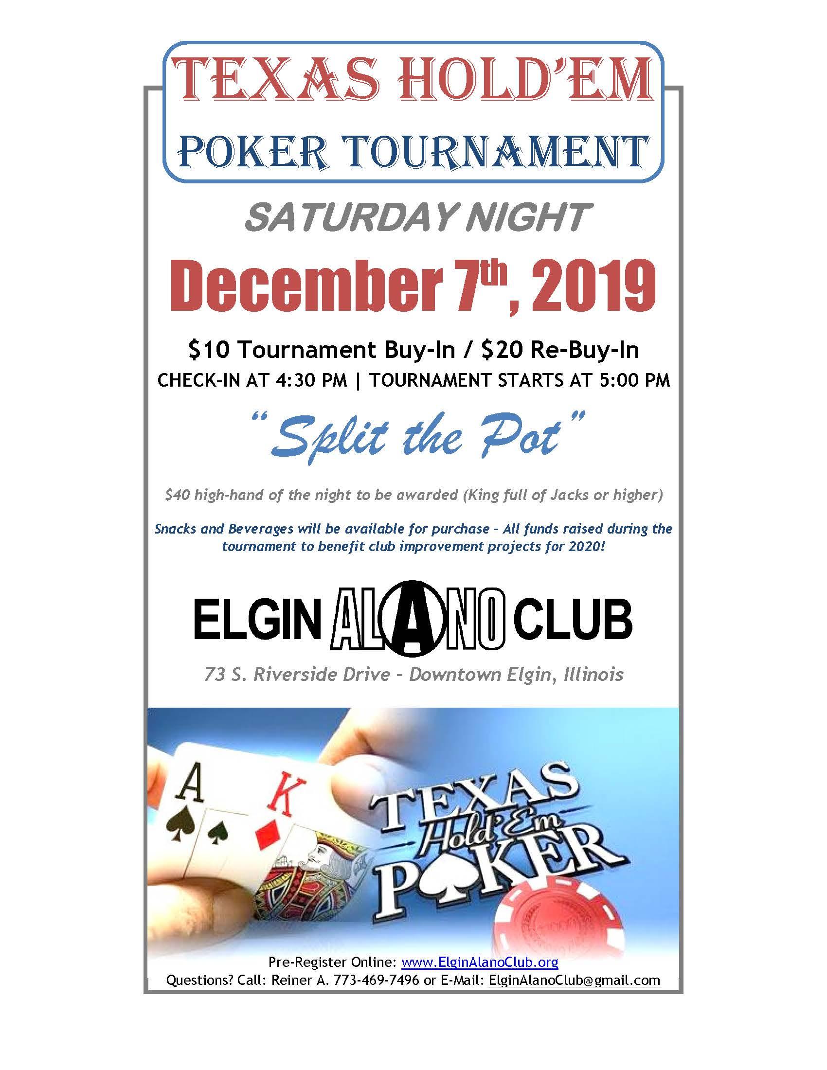 Poker Tournament 12-7-2019