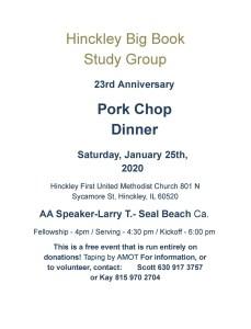 2020 Hinckley Pork Chop Dinner 2
