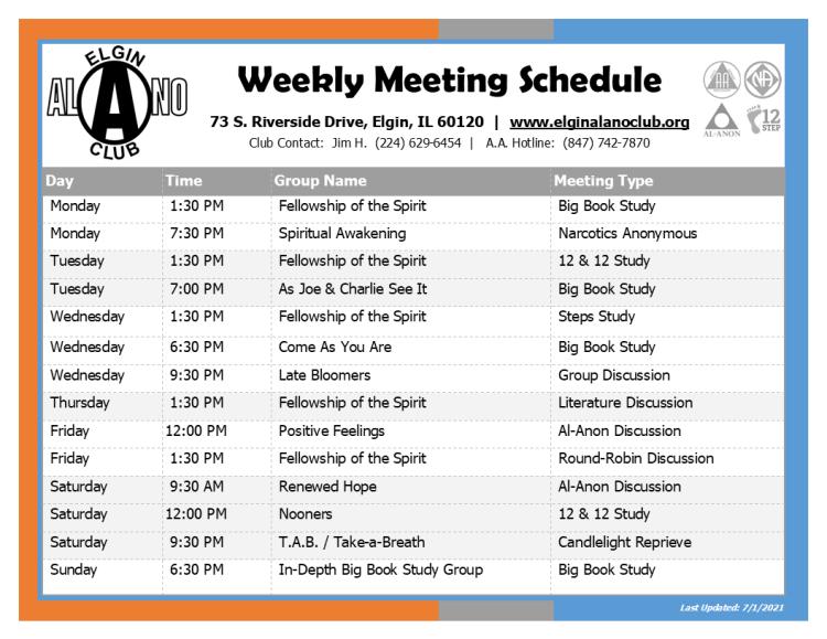 EAC Weekly Meeting Schedule July-2021 Web
