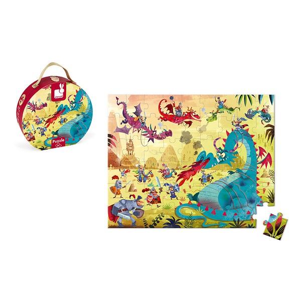 Puzzle maletin dragones
