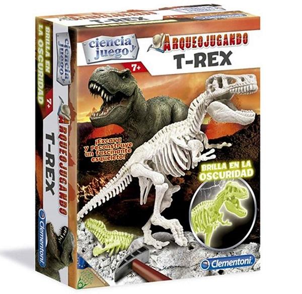 Arqueojugando dinosaurios fluorescentes