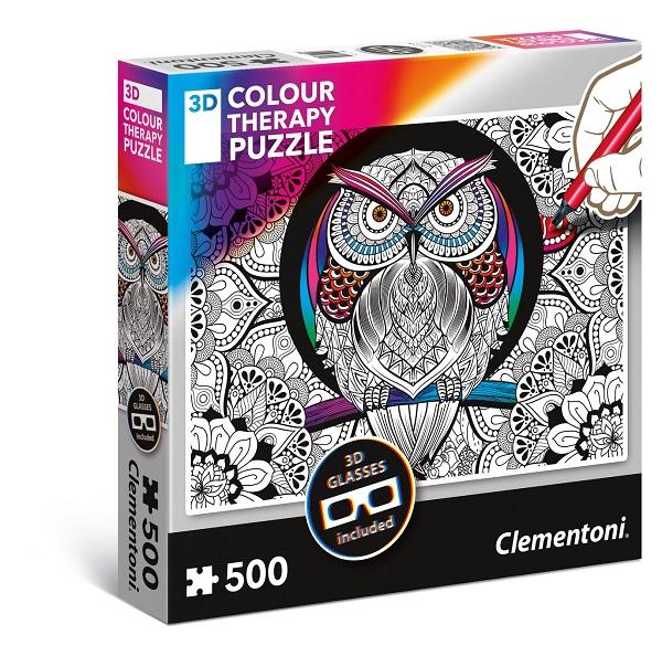 Colour 3D puzzles 500