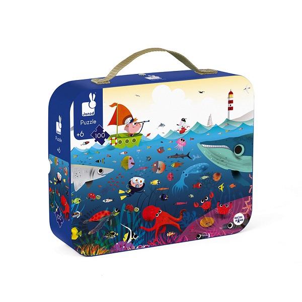 Puzzle maletin mundo submarino