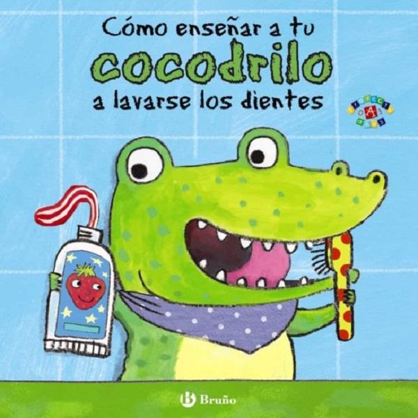 Libro cocodrilo lavar dientes