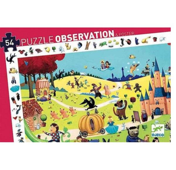 Puzzle de observacion los cuentos Djeco