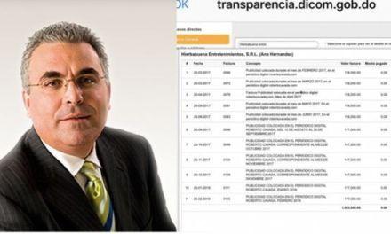 Roberto Cavada recibe 1 millón y medio de pesos anual de la presidencia de RD por publicidad