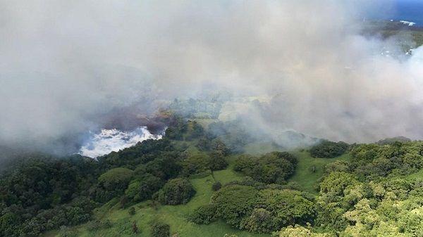 La lava del Kilauea provoca que se evapore el lago más grande de Hawái