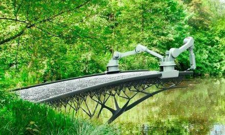 Construyen un puente en Ámsterdam con impresoras 3D