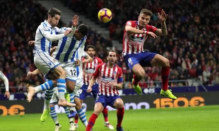 Atlético se sube a la punta de la Liga Española
